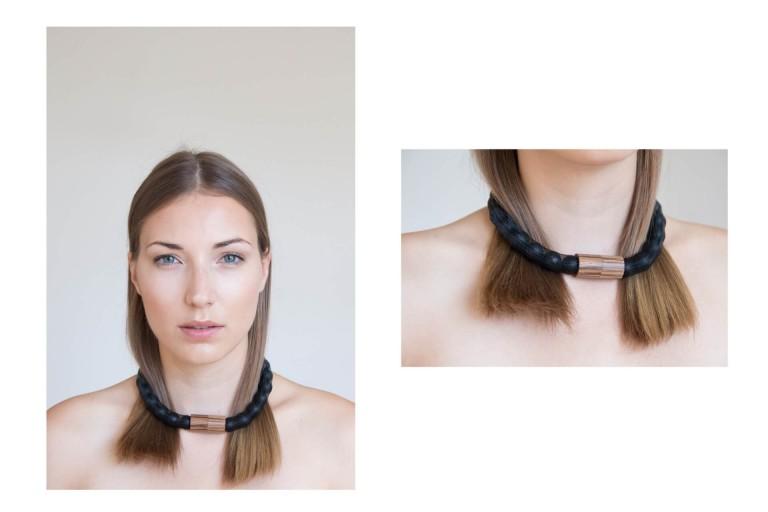 Adéla Pečlová | WOOD kolekce - náhrdelník zebrano černý 01