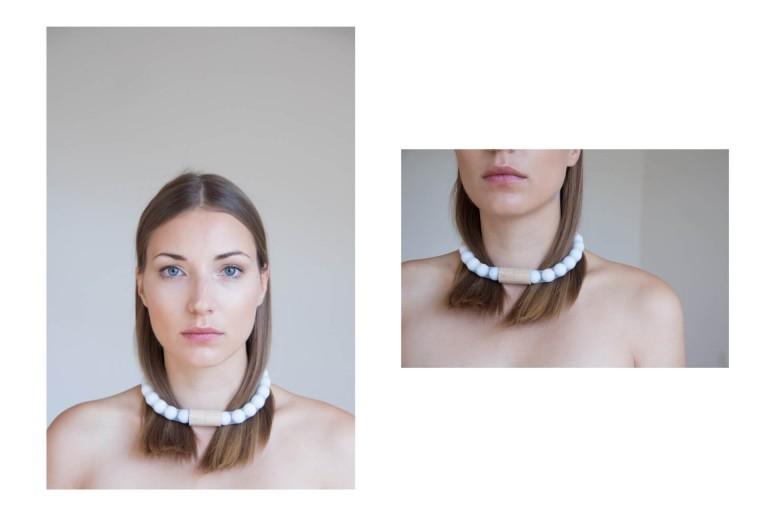 Adéla Pečlová | WOOD kolekce - náhrdelník javor bílý 01