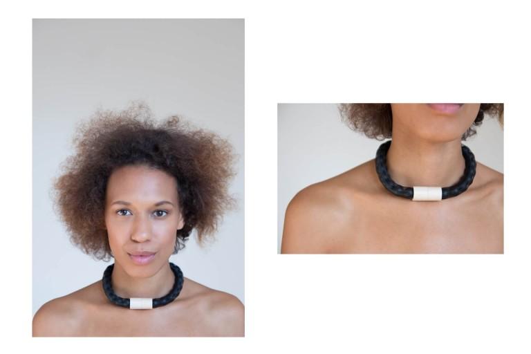 Adéla Pečlová | WOOD kolekce - náhrdelník javor černý 01